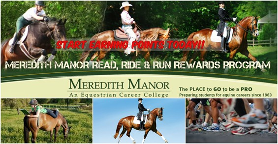 Meredith Manor's Read, Ride and Run Rewards program